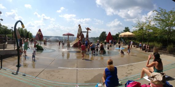 Splash Pad at Woodland Mound